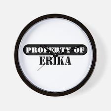 Property of Erika Wall Clock