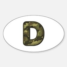 D Army Oval Decal