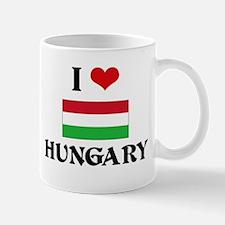 I HEART HUNGARY FLAG Mug