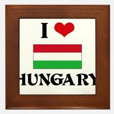 I HEART HUNGARY FLAG Framed Tile
