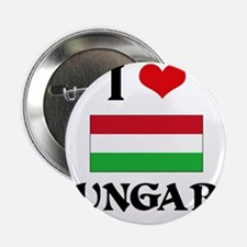 "I HEART HUNGARY FLAG 2.25"" Button"