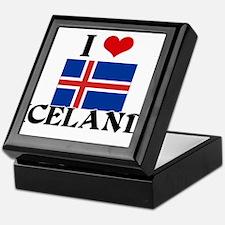 I HEART ICELAND FLAG Keepsake Box