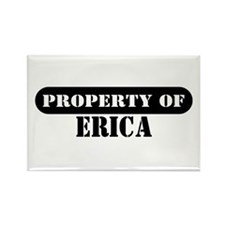 Property of Erica Rectangle Magnet