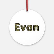 Evan Army Round Ornament