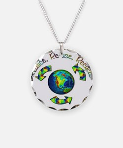 3R Necklace Circle Charm