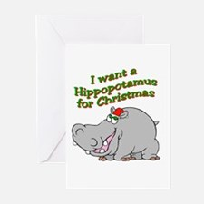 Christmas Hippo Greeting Cards (Pk of 10)