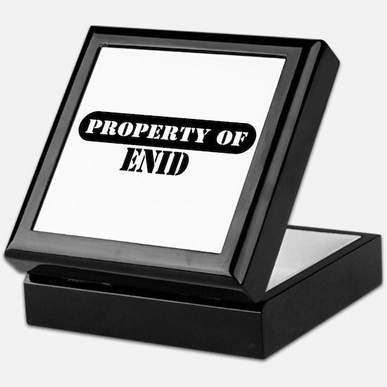 Property of Enid Keepsake Box
