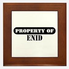 Property of Enid Framed Tile