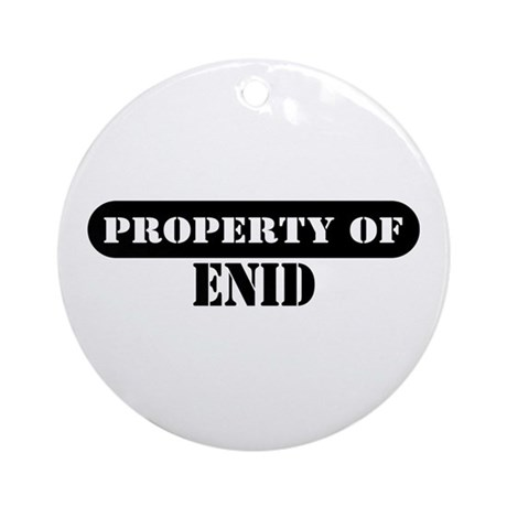 Property of Enid Ornament (Round)