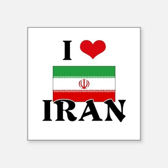 I HEART IRAN FLAG Sticker