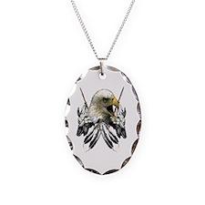 Buffalo Skull Eagle Necklace