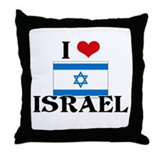I HEART ISRAEL FLAG Throw Pillow