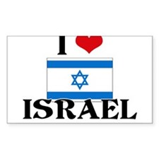 I HEART ISRAEL FLAG Decal