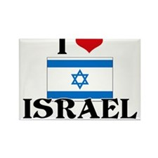 I HEART ISRAEL FLAG Rectangle Magnet