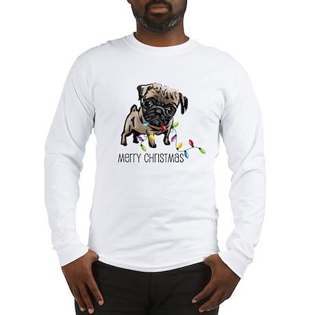 Pug Christmas Lights Long Sleeve T-Shirt