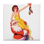Santa's Hot Tomato Tile Coaster