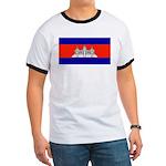 Cambodia Blank Flag Ringer T