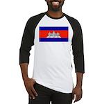 Cambodia Blank Flag Baseball Jersey