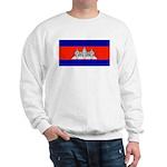 Cambodia Blank Flag Sweatshirt