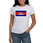 Cambodia Blank Flag Women's T-Shirt
