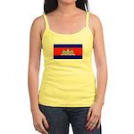 Cambodia Blank Flag Jr. Spaghetti Tank