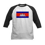 Cambodia Blank Flag Kids Baseball Jersey