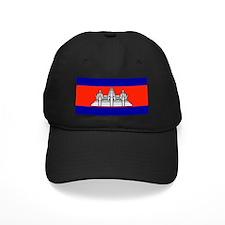 Cambodia Blank Flag Baseball Hat