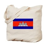 Cambodia Blank Flag Tote Bag