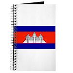 Cambodia Blank Flag Journal