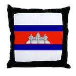 Cambodia Blank Flag Throw Pillow