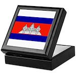 Cambodia Blank Flag Keepsake Box