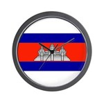 Cambodia Blank Flag Wall Clock