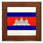 Cambodia Blank Flag Framed Tile