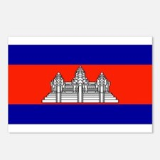 Cambodia Blank Flag Postcards (Package of 8)