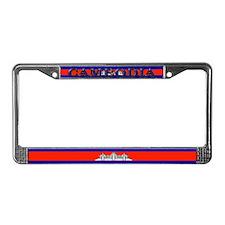 Cambodia Blank Flag License Plate Frame