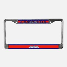 Cambodia Blank Flag License Plate Frame