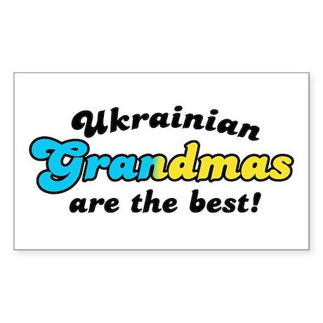 Ukrainian Grandmas are the Best Sticker (Rectangul