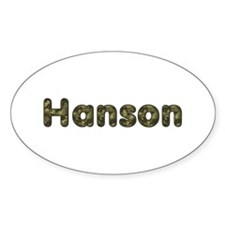 Hanson Army Oval Decal
