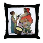 Santa Got Held Up By a Flappe Throw Pillow