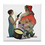 Santa Got Held Up By a Flappe Tile Coaster