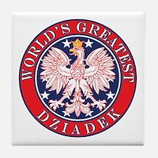 World's Greatest Dziadek Tile Coaster