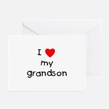 I love my grandson Greeting Cards (Pk of 10)