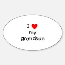 I love my grandson Oval Decal