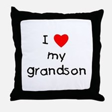 I love my grandson Throw Pillow
