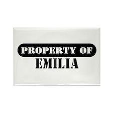 Property of Emilia Rectangle Magnet