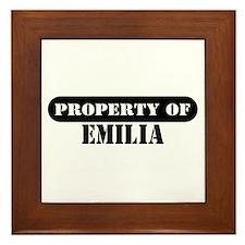 Property of Emilia Framed Tile