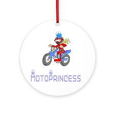MotoChick Princess Ornament (Round)