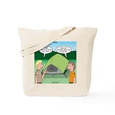 Tent Setup Tote Bag