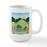 Tent Setup Large Mug