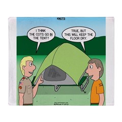 Tent Setup Throw Blanket